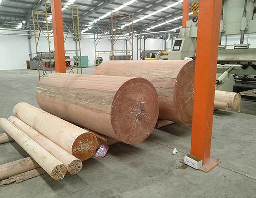 Linha completa de produção de madeira compensada estabelecida em Surabaya, na Indonésia.